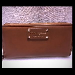 Kate Spade cognac Leather full-size Wallet